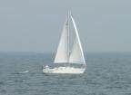 sail boat in Straits of Mackinac