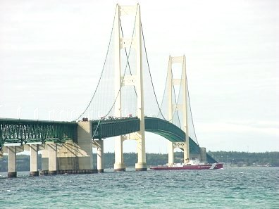 Mackinac Bridge and Coast Guard Citter Mackinaw
