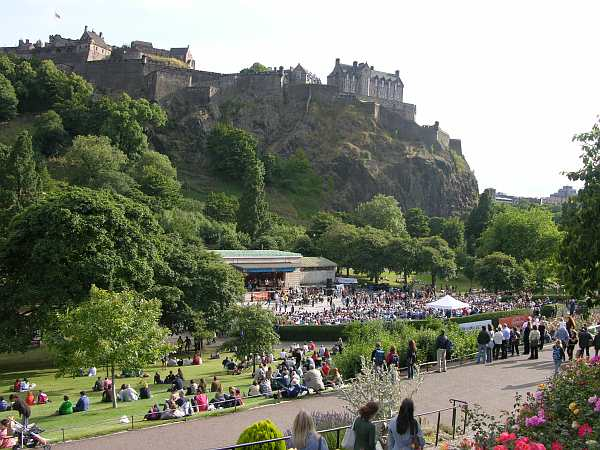Jazz Concert at Princes Street Gardens