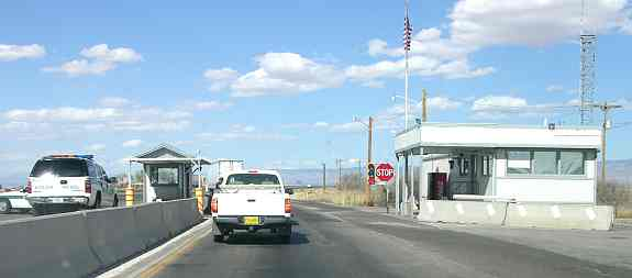 US Border Patrol checkpoint neat White Sands National Monument.