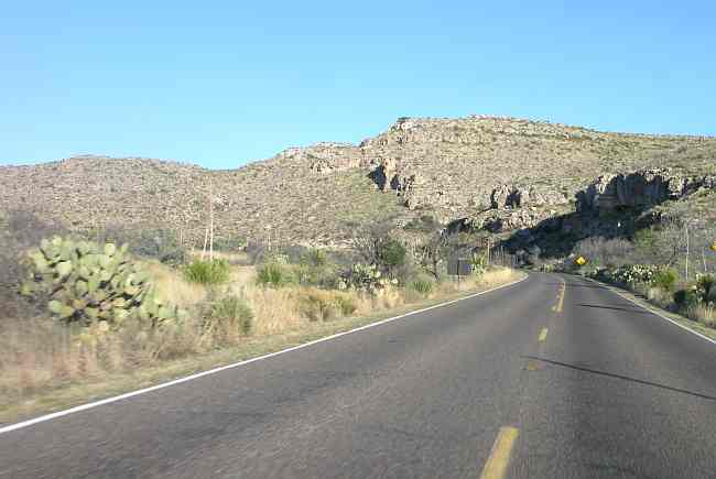 Canyon drive to Carlsbad Caverns National Park.