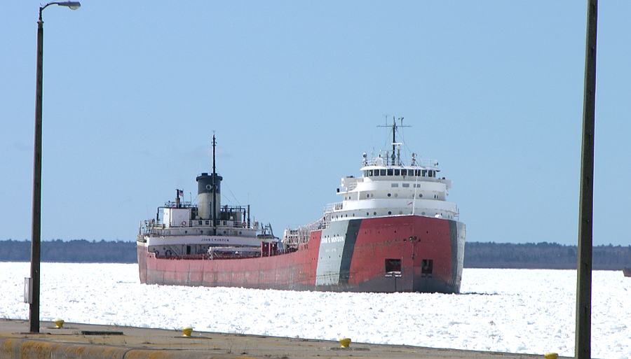 Freighter John G. Munson in the ice