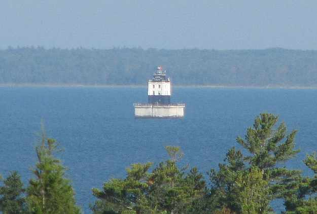Poe Reef Light east of Cheboygan, Michigan