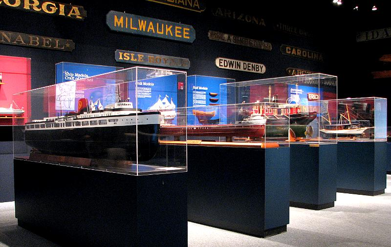 Great Lakes' freighter ship models
