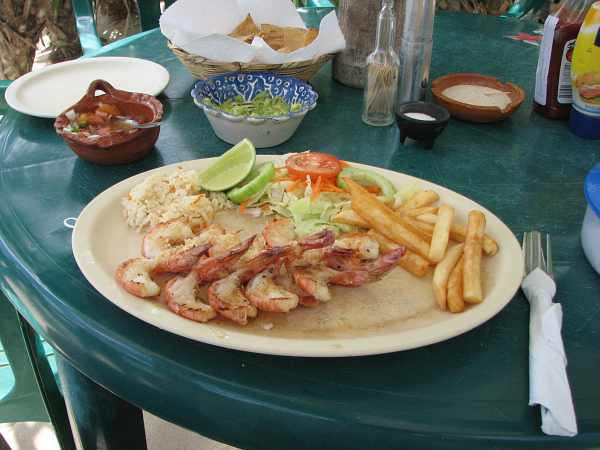 Grilled shrimp at Coconuts bar and grill