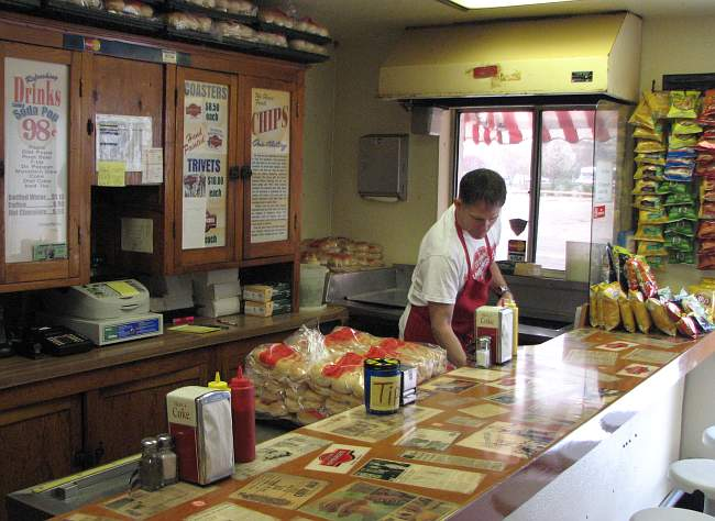 Counter at Salina, Kansas' Cozy Inn