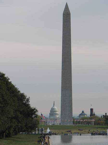 Washington Monument with Capital Dome in the background