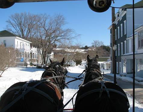 Mackinac Island, Michigan in the winter.