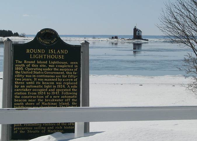 Round Island Lighthouse Historic Marker