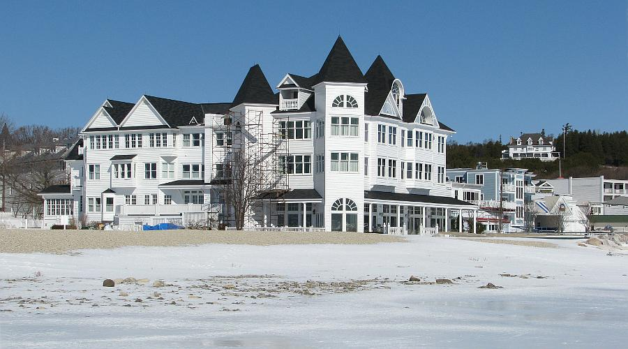 Hotel Iroquois in winter - Mackinac Island, Michigan