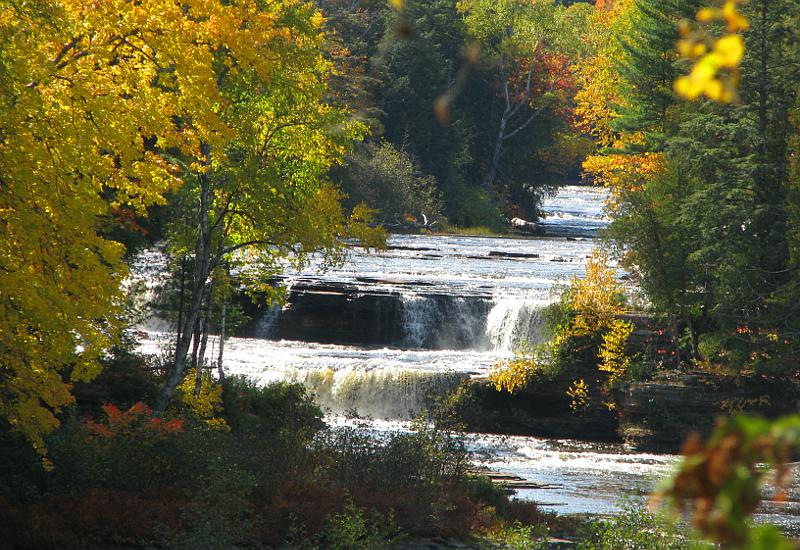Lower Tahquamenon Falls in the the fall