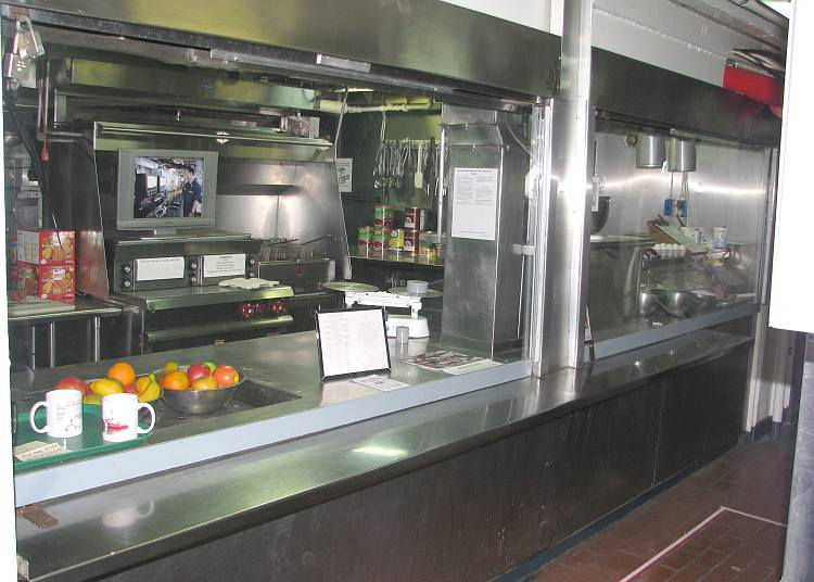USCGC Mackinaw Galley (kitchen)