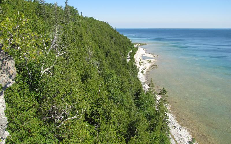 Mackinac Island shore from Arch Rock