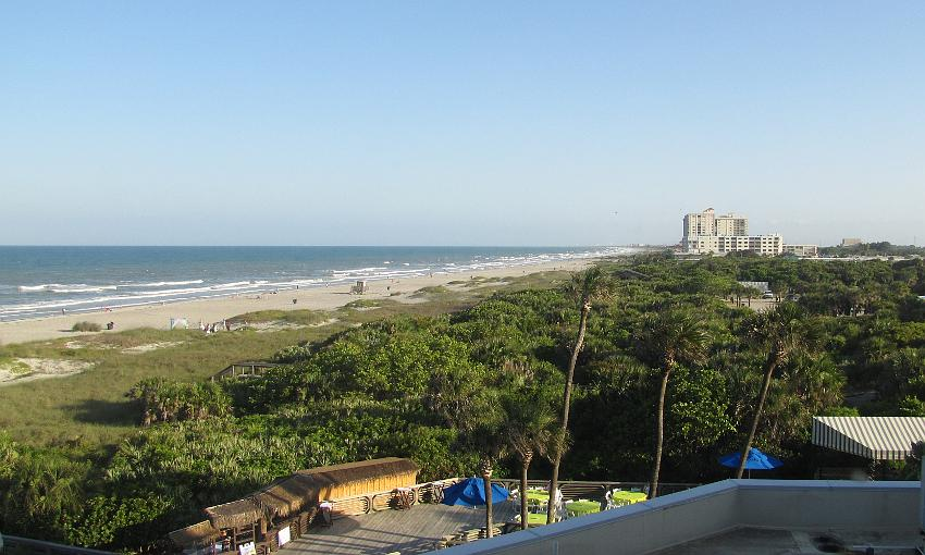 View from the Hillton Cocoa Beach Oceanfront Hotel