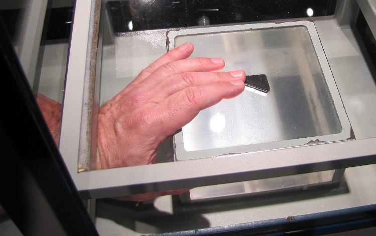 touching the moon rock