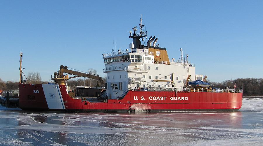 United States Coast Guard Cutter Mackinaw in ice