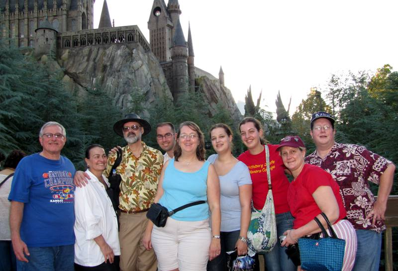 Our family at the Wizarding World of Harry Potter