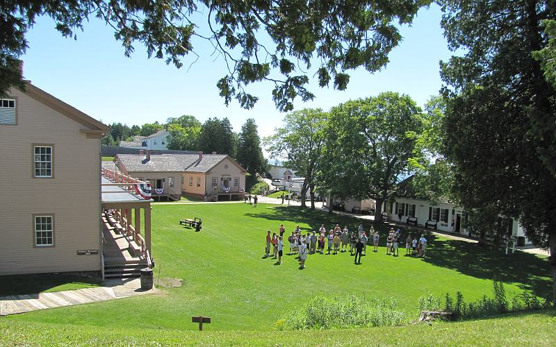 Fort Mackinac parade ground - Mackinac Island, Michigan