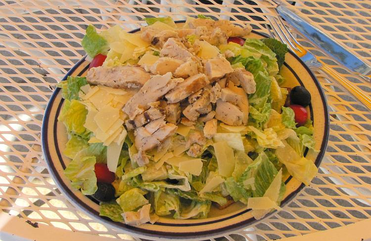 Salad at the Fort Mackinac Tea Room