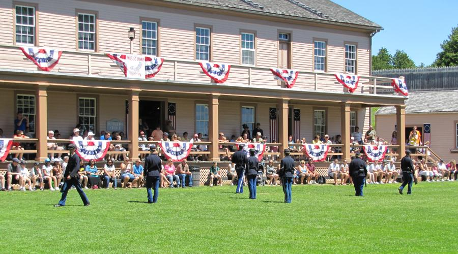 Fort Mackinac parade grounds