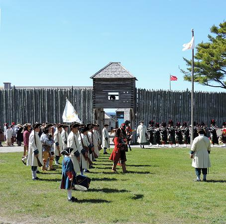 Pagent at Fort Michilimackinac