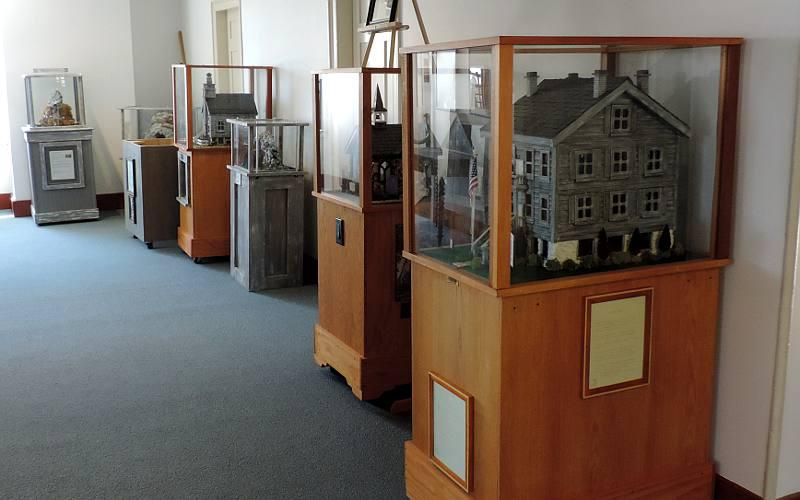 Dale Gensman models of Mackinac Island buildings and attractions