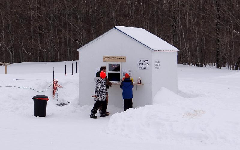 Eben Ice Caves concession stand
