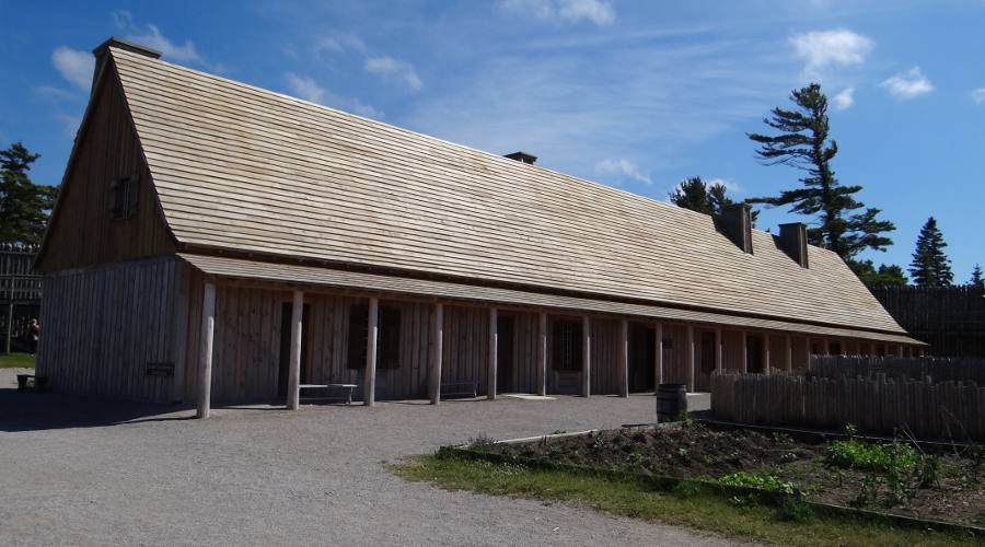 Reconstructed Colonial Michilimackinac Rowhouse