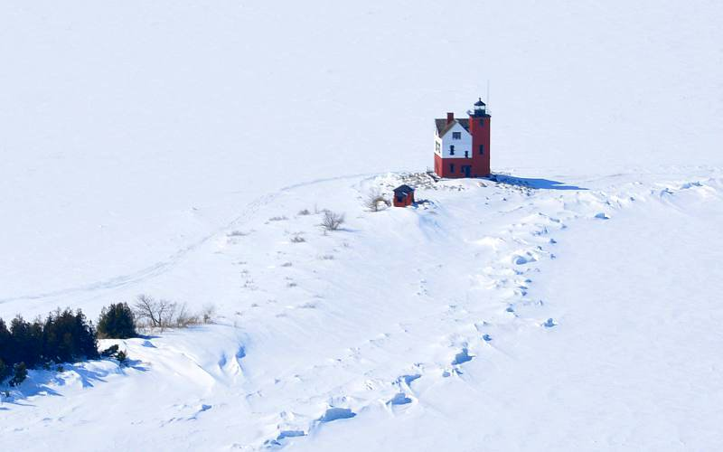 Round Island Lighthouse - Great Lakes, Michigan