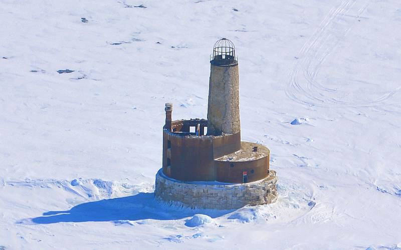 Waugoshance Lighthouse - Michigan winter