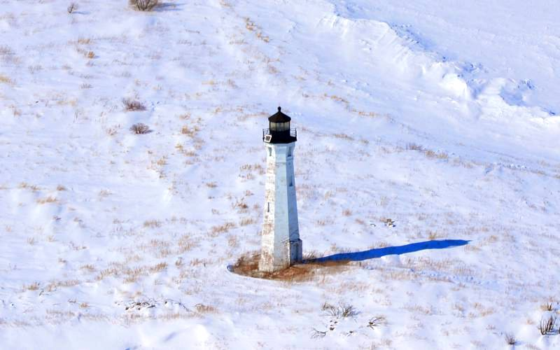 Skillagalee Island Lighthouse - Lake Michigan