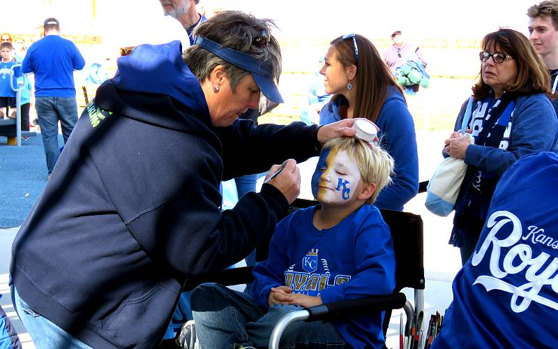 Kansas City Royals face painting