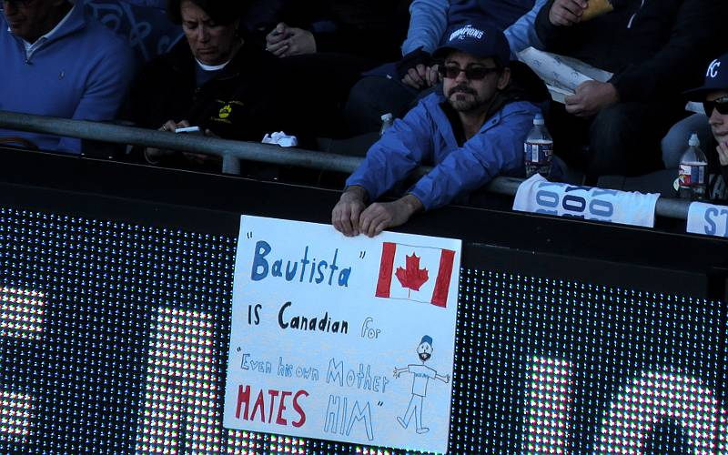 Royals fan sign about José Bautista