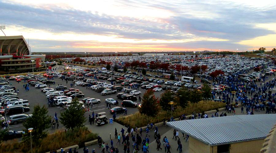 Kansas City Royals parking lot