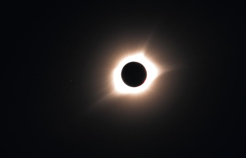 Total eclipse photographed with a Nikon D5200