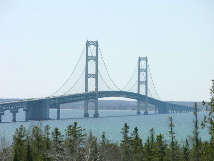 Mackinac Bridge from St Ignace side