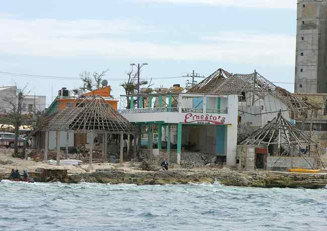 Hurricane damaged Ernesto's Night Club