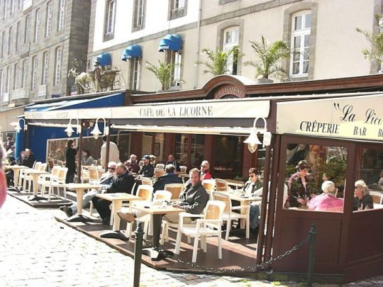 Cafe de La Licorne - Saint-Malo, France