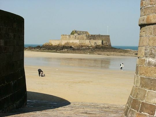 Fort outside of Saint-Malo, France