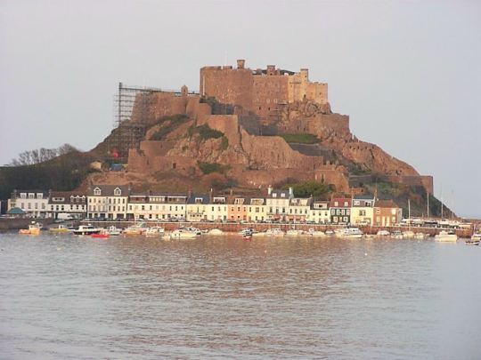 Gorey Castle on the island of Jersey