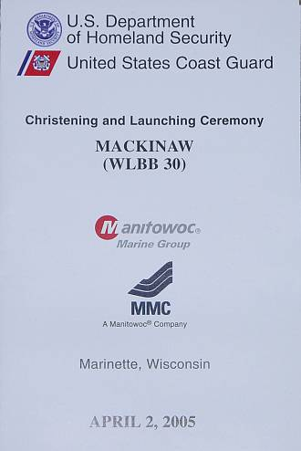 Program for Mackinaw Christening and Launching