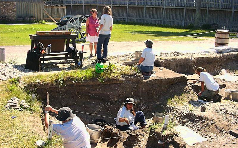 archeology at Fort Michilimackinac