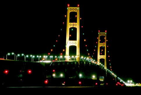 Mackinac Bridge night 2004